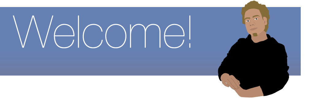 Welcome message header